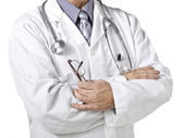 Cropped image of male doctor — Stock Photo