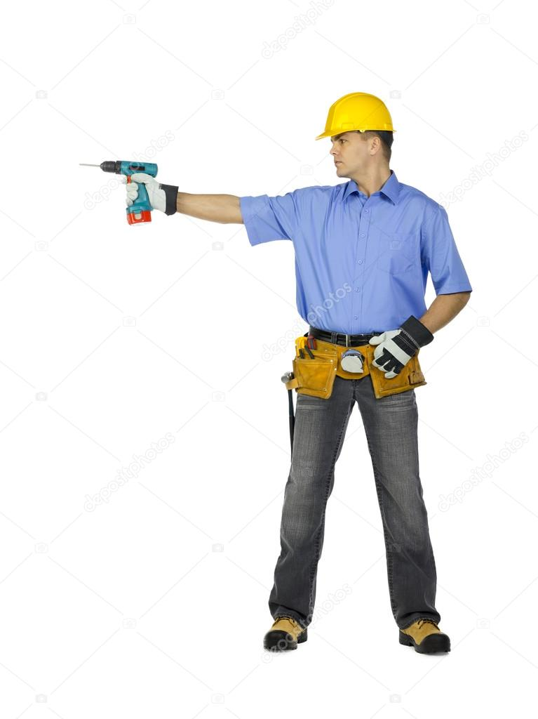 Unhappy Construction Worker Manual Construction Worker