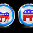 Democratic and republican vector — Stock Photo