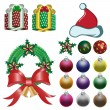 Stock Photo: Christmas ornaments vector