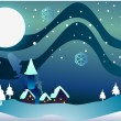 Christmas village clip art — Stock Photo #13525326