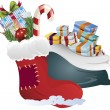 Постер, плакат: Clip art of a christmas gifts