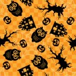 Stock Photo: Seamless halloween pattern