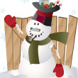 Vector christmas snowman - Stock Photo