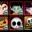 Halloween thumbnails vector — Stock Photo