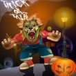 Halloween trick or treat vector — Stock Photo