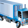 Cartoon cargo truck — Stock Photo
