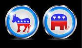 Democratic and republican vector — Stock Photo