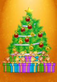 Clip art of christmas present wallpaper — Stock Photo