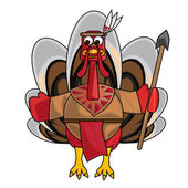Clip art of indian turkey — Stock Photo