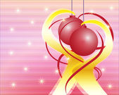 Decorative christmas background clip art — Stock Photo