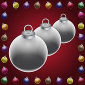 Clip art of christmas balls — Stock Photo