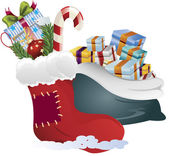 Clip art of a christmas gifts — Stock Photo