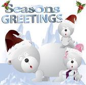 Clip art christmas bears — Stock Photo
