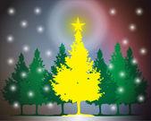 Clip art christmas tree — Stock Photo