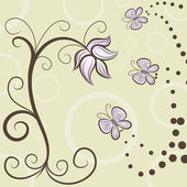 Vector background with flower motive — Stock Photo