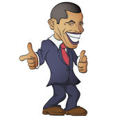 Barack obama vector — Stock Photo