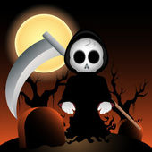 Vector grim reaper at night — Stock Photo