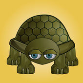 Turtle clip art — Stock Photo