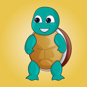 Cartoon turtle — Stock Photo