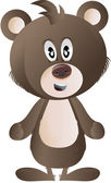 Clip art brown bear — Stock Photo