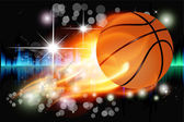 Vector abstract background with basketball — Stock Photo