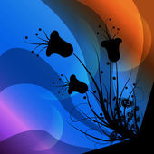 Clip art of a flower background — Stock Photo