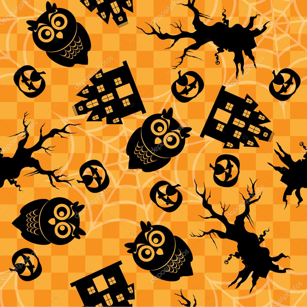 Orange seamless Halloween pattern — Stock Photo #13525570