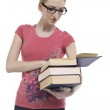 A female student reading book — Stock Photo