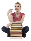 Female student with books — Stock Photo