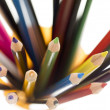 Stacked of colorful pencil — Stock Photo