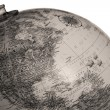 Black and white image of the globe — Stock Photo
