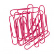 Pink paper clips - Stock Photo