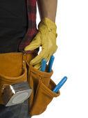 Man with toolbelt — Stock Photo