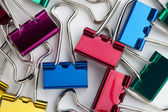 Colorful paperclips — Stock Photo