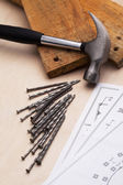 Carpenters desk — Stock Photo