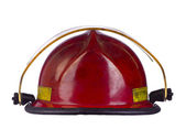 Red fireman helmet — Stock Photo