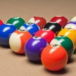 Fifteen billiard balls — Stock Photo