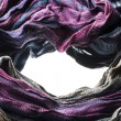 Formation of the scarf — Stock Photo