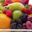 Fruit filled shopping basket — Stock Photo