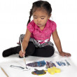 Girl busy painting — Stock Photo #14087175