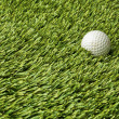 Golf ball in grass — Stock Photo
