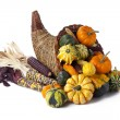 Gourds pumpkins and indian corn — Stock Photo #14089995
