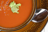 Bowl of tomato soup — Stock Photo
