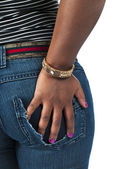Female with hand on hip — Stock Photo