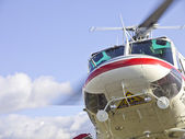 Flying helicopter — Stock Photo