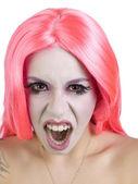 Frightful gothic woman — Stock Photo