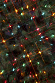 Full frame image of a christmas tree with cluster of christmas l — Stock Photo