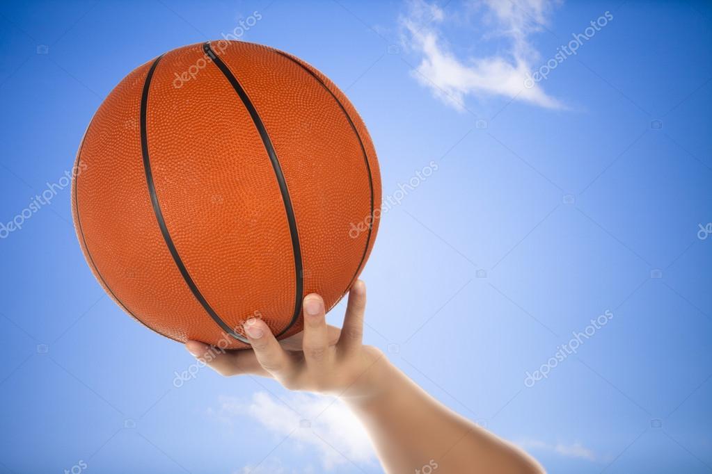 Basketball on the hand — Stock Photo © kozzi2 #14081225