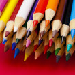 Stock Photo: Group of crayons